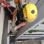 Tinteggiatura parapetto in cemento